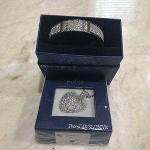 NIB Swarovski Crystal Bangle & Necklace